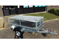 CAGE / MESH TRAILER SINGLE AXLE 6,8ft x 3,8ft 750kg + FLAT TOP COVER