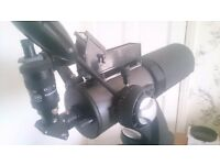 Celestron telescope Maksutov Cassegrain 127 with many extras. Complete observing set up.