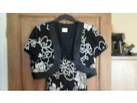 Evening dress and matching jacket size 18