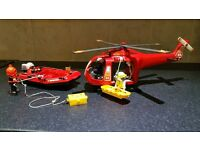 Playmobil Rescue Helicopter and Boat
