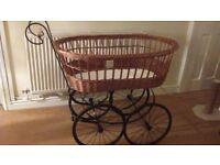 Vintage Style Crib/Pram (full size baby's crib).