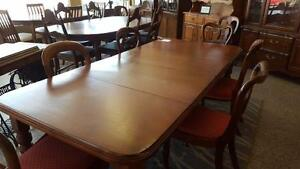 Large Dining table and six chairs
