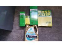Audi a4 b8 avant service kit.oil and all filters