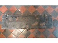 Antique Vintage Industrial Style Wooden Tool Box Chest