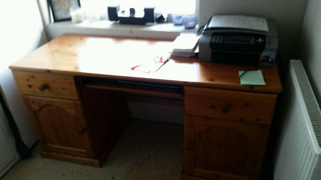 finest selection 6dbcf 6353a Solid pine computer desk | in Paignton, Devon | Gumtree