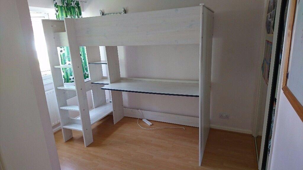 Children's Highsleeper, bunk bed with mattress. Girs/Boys.