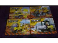 Set of 4 construction building blocks