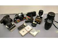 Olympus om10 film camera with lens
