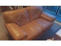 3 piece leather sofa set - excellent condition