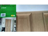 Internal Door - London 4 Panel White Oak 686mm Wide
