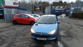 2002 (02 reg) Peugeot 206 2.0 HDi LX 3dr Hatchback FOR SALE £595 SOLD WITH 12 MONTHS MOT