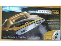 Boxed Phoenix gold ceramic plate steam iron