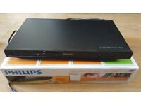 Slimline Full working hardly used Philips DVD Player in Original Box