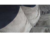 Grey & Black, cord fabric & suede sofa