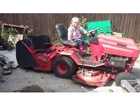 Tractor Mower with grass collector for spares or repair