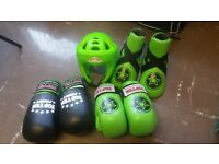 For sale genuine neon green topten sparring gear