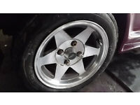 """classic mini starmag 12"""" wheels and tyres"""