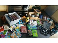 car boot job lot books, toys, drills, kitchen items, football boots, clothes, dvds