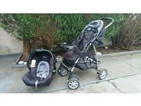 Graco pram and matching baby car seat