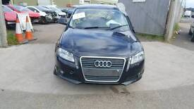 2010 AUDI A3 8P BLACK FRONT BUMPER WITH GRILL