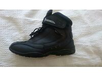 Black motorbike boots
