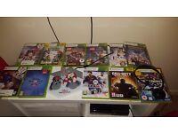 Xbox 360 with games head set an skylanders