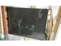Black Granite Slab for Fireplace Surround and Base