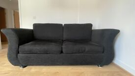 3 Seater Sofa - Black