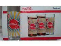 Set Of 3 Coca Cola Glasses New In Box