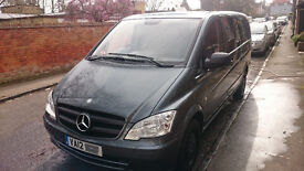 Mercedes Vito Combi Crew Van LWB 5 Seats 116CDi 161HP Metallic Grey