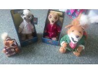 Basil brush and meerkat toys