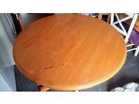 light oak/pine extendable dining table
