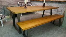 Rustic Industrial Dining Set New