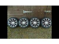 "Bmw 18"" alloys with snow tyres"