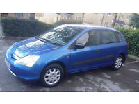 FSH 02' honda civic 1.4 ltd edition 5 door 10 stamps in book timing belt changed 126k many receipts