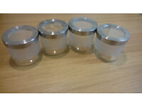 4 glass jars with lid