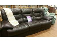 New leather recliner 3 seat sofa.. half price