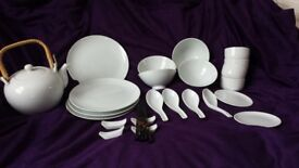 Chinese dinner set in white