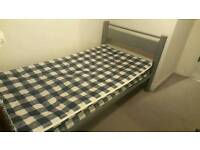 Single bed with mattress for sale, good condition!!