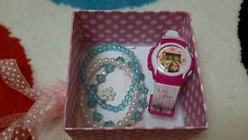 Frozen digital watch and bracelet set