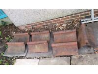 Victorian Ridge Tiles with Rolled Top. COLLECTION ONLY