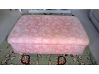 Laura Ashley Footstool, Elliot Stlye with Internal storage compartment & Lid