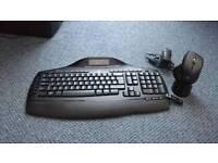 Logitech wireless keyboard and mouse pc keyboard