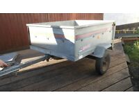 erde tipping trailer with spare wheel and cover. excellent condition. only used for camping