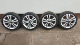 "Skoda VRS original 18""alloys with tyrs"