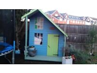 Lovely Painted Childs Playhouse