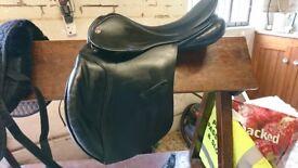Black 17'' Medium Jefferies Hawk Event Saddle