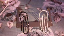 Clothes over door hanger . As new two hangers