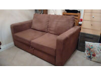 Sofa Bed (Double), brown, pick-up only
