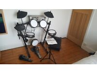 Alesis DM5 PRO Electronic Drum Kit complete with Owner Manual, Stool, Headphones and Amp